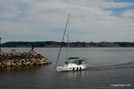 Arrivée triomphale à la marina de Portneuf