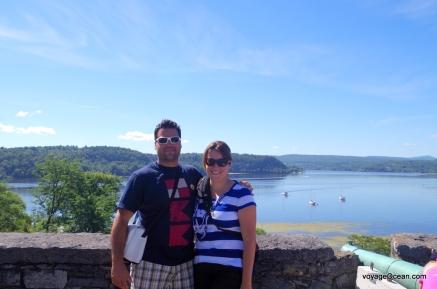 Photo prise au départ au Fort Ticonderoga