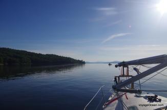 Départ pour la traversée du lac Champlain